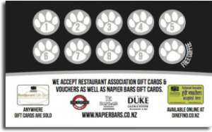 Napier Bars Coffee Card