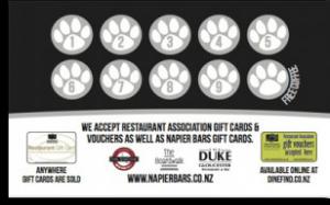 Napier Bars Coffee Card
